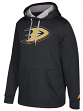 "Anaheim Ducks Adidas NHL Men's ""Checking"" Pullover Hooded Sweatshirt"