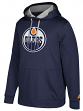 "Edmonton Oilers Adidas NHL Men's ""Checking"" Pullover Hooded Sweatshirt"