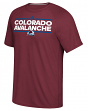 "Colorado Avalanche Adidas NHL ""Dassler"" Climalite Performance S/S T-Shirt"