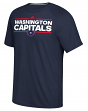 "Washington Capitals Adidas NHL ""Dassler"" Climalite Performance S/S T-Shirt"