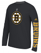 "Boston Bruins Adidas NHL ""Journeyman"" Climalite Performance L/S Shirt"
