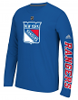 "New York Rangers Adidas NHL ""Journeyman"" Climalite Performance L/S Shirt"