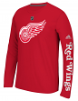 "Detroit Red Wings Adidas NHL ""Journeyman"" Climalite Performance L/S Shirt"