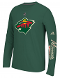 "Minnesota Wild Adidas NHL ""Journeyman"" Climalite Performance L/S Shirt"
