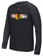 "Chicago Blackhawks Adidas NHL ""Resurface"" Men's Climalite L/S T-Shirt"
