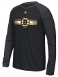 "Boston Bruins Adidas NHL ""Resurface"" Men's Climalite L/S T-Shirt"