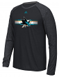 "San Jose Sharks Adidas NHL ""Resurface"" Men's Climalite L/S T-Shirt"