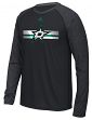 "Dallas Stars Adidas NHL ""Resurface"" Men's Climalite L/S T-Shirt"