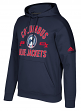 "Columbus Blue Jackets Adidas NHL Men's ""Misconduct"" Pullover Hooded Sweatshirt"