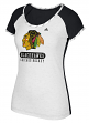 "Chicago Blackhawks Women's Adidas NHL ""Skates"" Dual Blend Premium T-shirt"