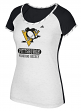 "Pittsburgh Penguins Women's Adidas NHL ""Skates"" Dual Blend Premium T-shirt"