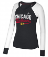 "Chicago Blackhawks Women's Adidas NHL ""Puck Drop"" Dual Blend Long Sleeve T-shirt"