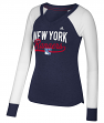 "New York Rangers Women's Adidas NHL ""Puck Drop"" Dual Blend Long Sleeve T-shirt"