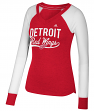 "Detroit Red Wings Women's Adidas NHL ""Puck Drop"" Dual Blend Long Sleeve T-shirt"