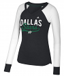 "Dallas Stars Women's Adidas NHL ""Puck Drop"" Dual Blend Long Sleeve T-shirt"