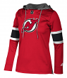 "New Jersey Devils Women's NHL Adidas ""Crewdie"" Pullover Hooded Sweatshirt"