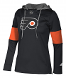 "Philadelphia Flyers Women's NHL Adidas ""Crewdie"" Pullover Hooded Sweatshirt"