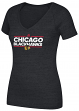 "Chicago Blackhawks Women's Adidas NHL ""Dassler"" Tri-Blend Premium T-shirt"