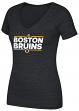 "Boston Bruins Women's Adidas NHL ""Dassler"" Tri-Blend Premium T-shirt"