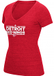 "Detroit Red Wings Women's Adidas NHL ""Dassler"" Tri-Blend Premium T-shirt"