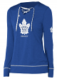 "Toronto Maple Leafs Women's Adidas NHL ""Wordmark"" Long Sleeve Skate Lace Top"