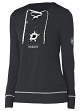 "Dallas Stars Women's Adidas NHL ""Wordmark"" Long Sleeve Skate Lace Top"