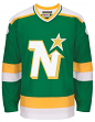 "Minnesota North Stars CCM Adidas NHL Men's ""Team Classic"" Authentic Green Jersey"