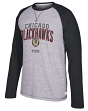 "Chicago Blackhawks CCM NHL ""Boarding"" Tri-Blend Men's Long Sleeve Crew Shirt"