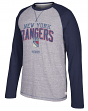 "New York Rangers CCM NHL ""Boarding"" Tri-Blend Men's Long Sleeve Crew Shirt"
