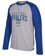 "Hartford Whalers CCM NHL ""Boarding"" Tri-Blend Men's Long Sleeve Crew Shirt"