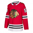 Corey Crawford Chicago Blackhawks Adidas NHL Men's Authentic Red Hockey Jersey