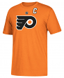 Claude Giroux Philadelphia Flyers Adidas NHL Men's Orange Player T-Shirt