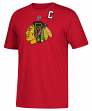 Jonathan Toews Chicago Blackhawks Adidas NHL Men's Red Player T-Shirt