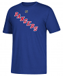 Henrik Lundqvist New York Rangers Adidas NHL Men's Blue Player T-Shirt