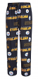 "Pittsburgh Steelers NFL ""Slide"" Men's Cotton Knit Sleep Pajama Pants"