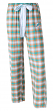 "Miami Dolphins NFL Women's ""Forge"" Dual Blend Plaid Flannel Sleep Pants"