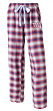 "New York Giants NFL Women's ""Forge"" Dual Blend Plaid Flannel Sleep Pants"