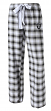 "Oakland Raiders NFL Women's ""Forge"" Dual Blend Plaid Flannel Sleep Pants"