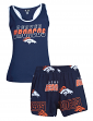"Denver Broncos Women's NFL ""2nd & Goal"" Cotton Tank & Short Sleep Set"
