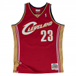 Lebron James Cleveland Cavaliers Mitchell & Ness NBA Throwback Jersey - Garnet