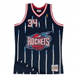 Hakeem Olajuwon Houston Rockets Mitchell & Ness NBA Throwback Jersey - Blue