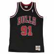 Dennis Rodman Chicago Bulls Mitchell & Ness NBA Throwback Jersey - Black