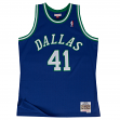 Dirk Nowitzki Dallas Mavericks Mitchell & Ness NBA Throwback Jersey - Blue