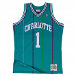 Muggys Bogues Charlotte Hornets Mitchell & Ness NBA Throwback Jersey - Teal