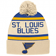 """St. Louis Blues CCM NHL """"Heritage"""" Cuffed Knit Hat with Pom"""