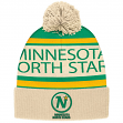 "Minnesota North Stars CCM NHL ""Heritage"" Cuffed Knit Hat with Pom"
