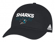 San Jose Sharks Adidas NHL Authentic Slouch Adjustable Hat