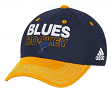 St. Louis Blues Adidas NHL Authentic Locker Room Structured Flex Hat