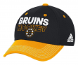 Boston Bruins Adidas NHL Authentic Locker Room Structured Flex Hat