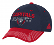 Washington Capitals Adidas NHL Authentic Locker Room Structured Flex Hat
